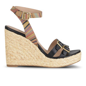 Paul Smith Shoes Women's Magda Leather Wedges - Black