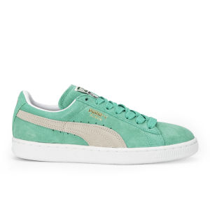 Puma Women's Suede Classics Trainers - Green/White