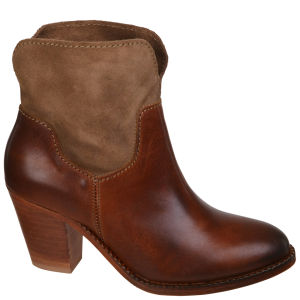 H by Hudson Women's Brock Suede Heeled Cowboy Boots - Tan