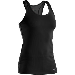 Under Armour Women's Victory Tank Top - Black/Aluminium