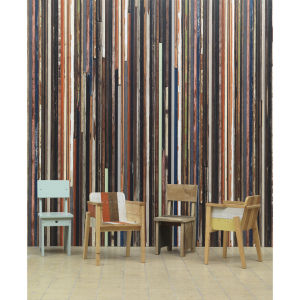 NLXL Scrapwood Wallpaper by Piet Hein Eek - Multi