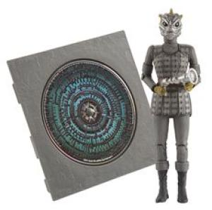 Dr Who Pandorica 5 Inch Action Figure and Audio MP3 CD Collection Silurian Warrior