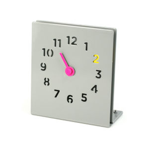 Desk Clock - Grey