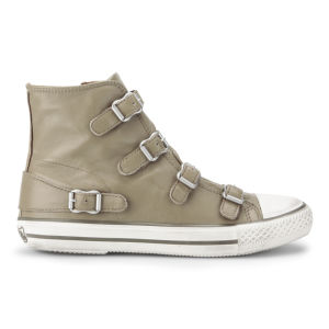 Ash Women's Virgin Hi Top Leather Trainers - Taupe