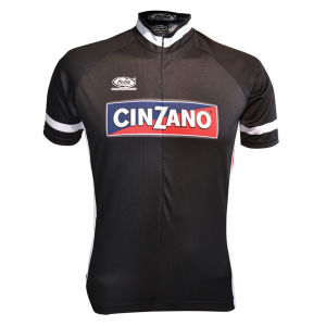Pella Cinzano Retro Short Sleeve Jersey - Black