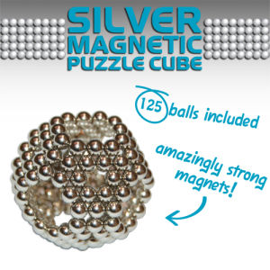Magic Magnetic Cube - Silver