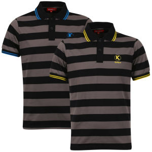 Kickers Men's Lambeth 2-Pack Polos - Charcoal