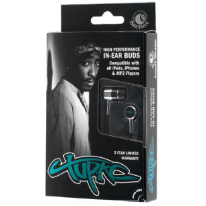 Section 8 Tupac Earphones in Tribute Packaging