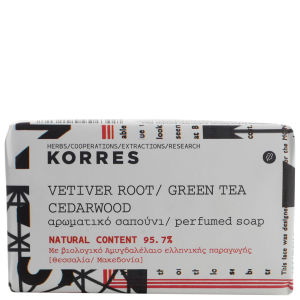 Korres Vetiver Root, Green Tea And Cedarwood Soap 125g