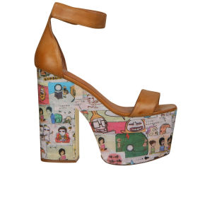 Jeffrey Campbell Women's Funnies Platform Heels - Tan
