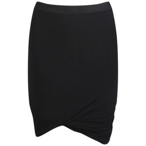 T by Alexander Wang Women's Micro Modal Spandex Mini Skirt - Black