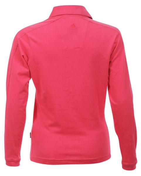 Women 39 s adidas 6 button polo t shirt pink sports for No button polo shirts