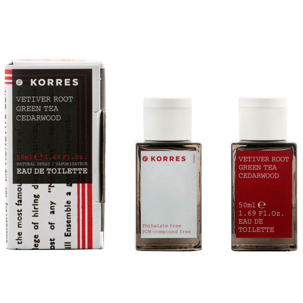 Korres Vetiver Root, Green Tea & Cedarwood Edt (50ml)
