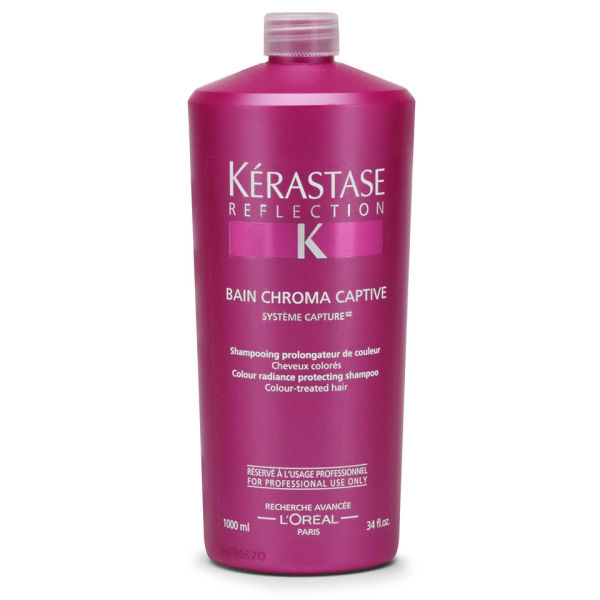 K rastase reflection bain chromacaptive 1000ml with pump for Kerastase reflections bain miroir shampoo