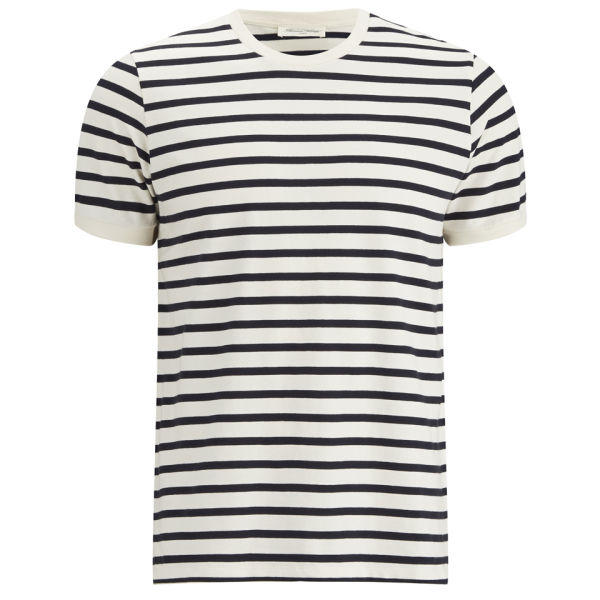 american vintage men 39 s breton stripe t shirt navy free. Black Bedroom Furniture Sets. Home Design Ideas