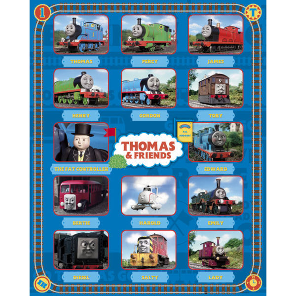 Thomas and Friends Characters - Mini Poster - 40 x 50cm
