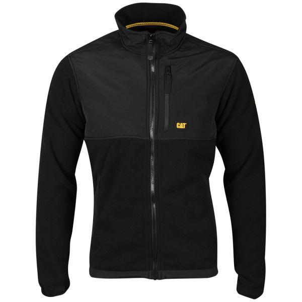 caterpillar s fleece jacket black clothing zavvi