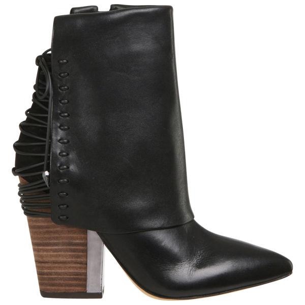 Sam Edelman Women's Martina Heeled Leather Ankle Boots - Black
