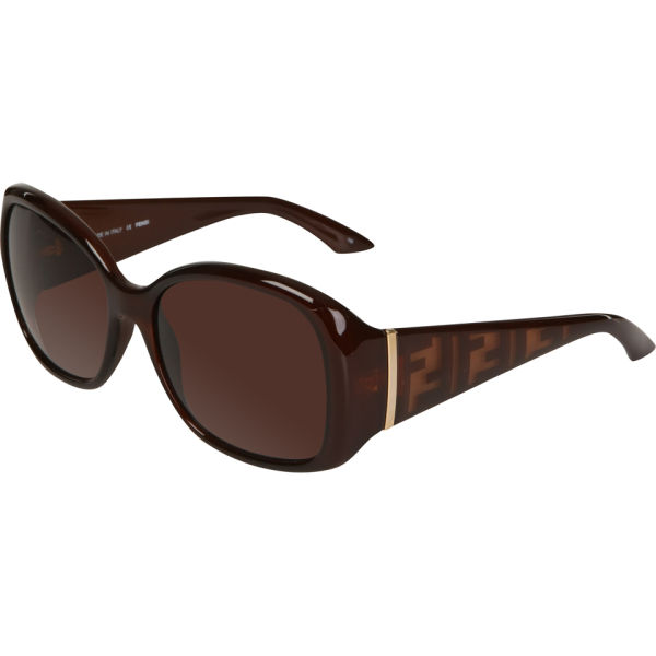 Fendi Oval Sunglasses - Brown
