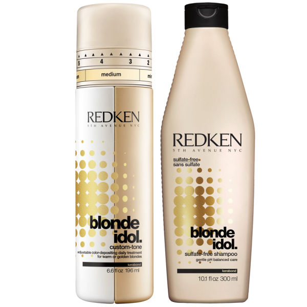 Redken Blonde Idol Shampoo (300ml) and Custom-Tone Gold Conditioner (196ml) Duo