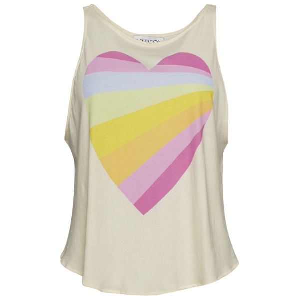 Wildfox Women's Over The Rainbow Heart Cassidy Tank - Champagne