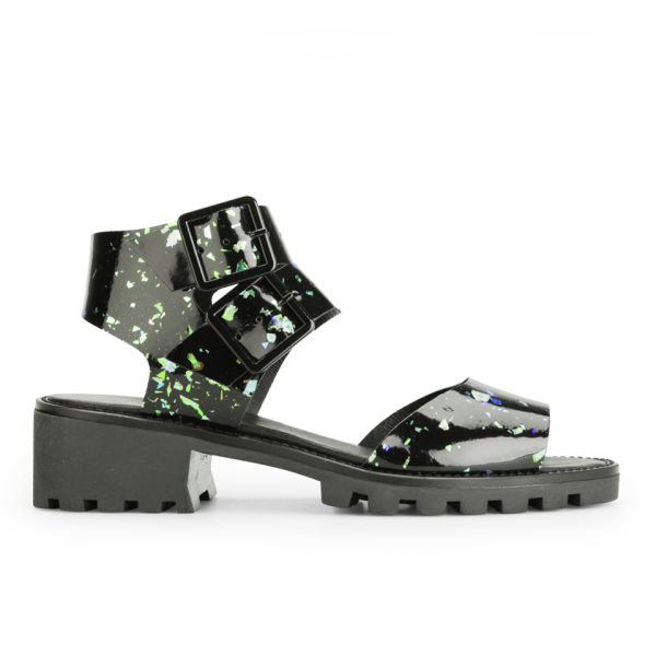 Miista Women's Patti Speckle Sandals - Black