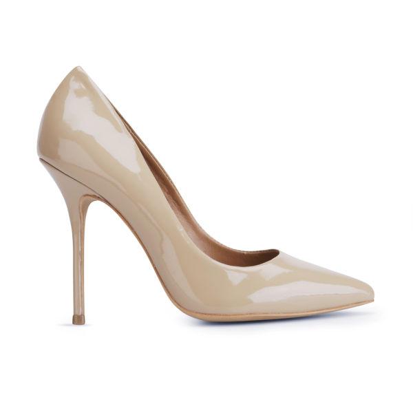 Kurt Geiger Women's Ellen Patent Heeled Court Shoes - Nude