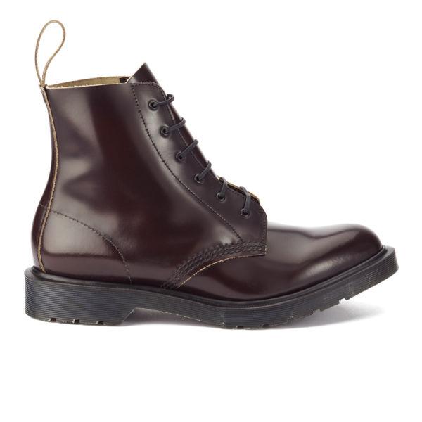 Dr. Martens Men's 'Made in England' Arthur Leather 6-Eye Boots - Merlot Boanil Brush