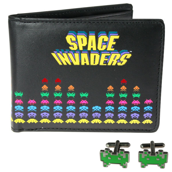 Space Invaders Wallet and Cufflinks
