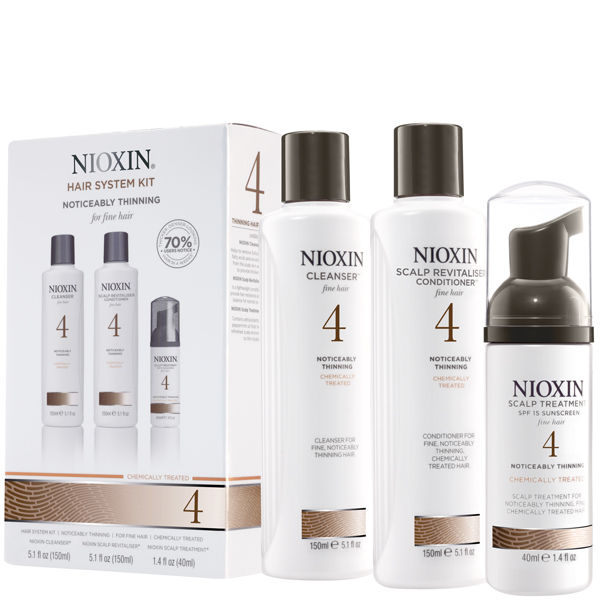 Nioxin Hair System Kit 4 For Fine Noticeably Thinning