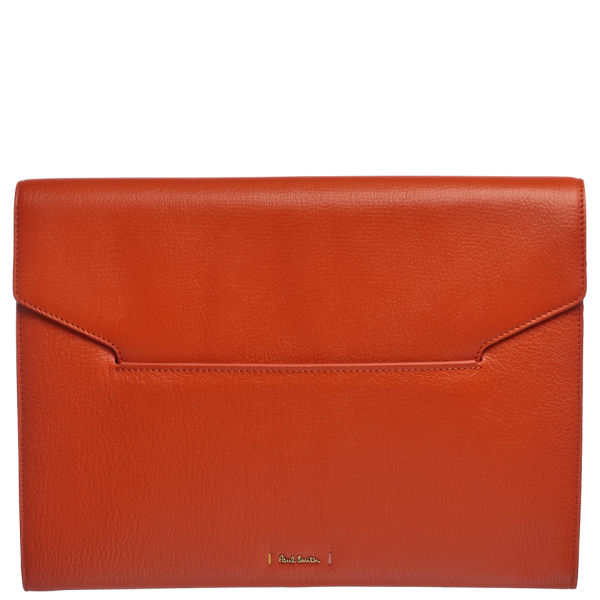 Paul Smith Accessories Women's Large Leather Clutch Bag - Orange