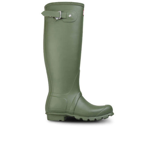 Hunter Unisex Original Leather Lined Tall Boots - Vintage Green
