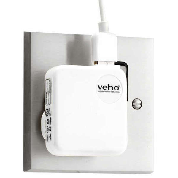 Veho UK Mains USB Charger Adaptor for iPhone, iPod, iPad, USB - White