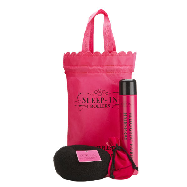 Sleep In Rollers Black Accessories (Bun Ring, Hairspray and Clips)