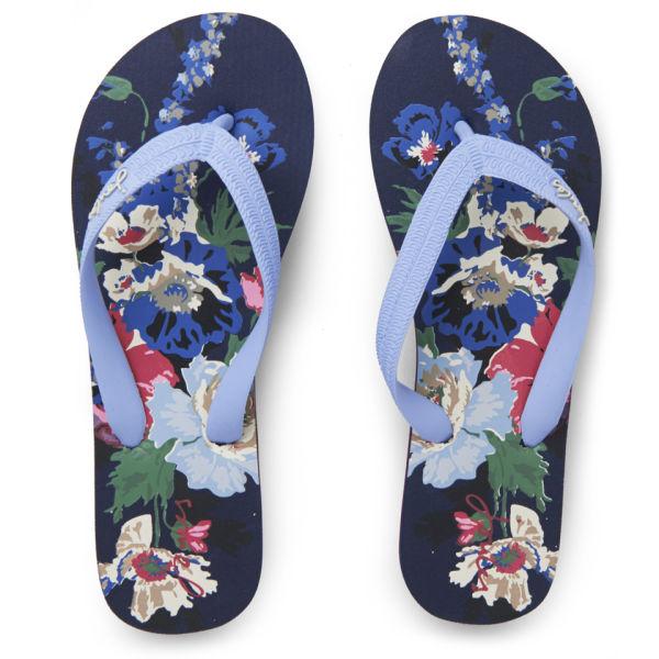 Joules Women's Jenny Flip Flops - Navy Bouquet