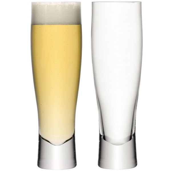 LSA Lager Glass 550ml Clear (Set of 2)