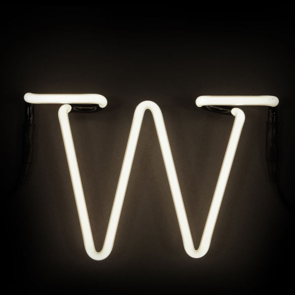 Seletti neon wall light letter w free uk delivery for Large neon letters