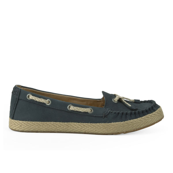 UGG Women's Chivon Leather Moccasin Shoes - Navy