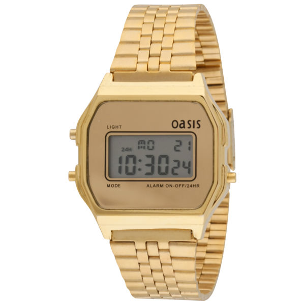 oasis womens retro gold digital watch clothing thehutcom