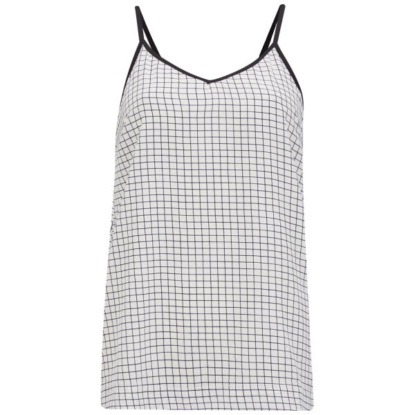 Vero Moda Women's Checked Aya Cami Top - White