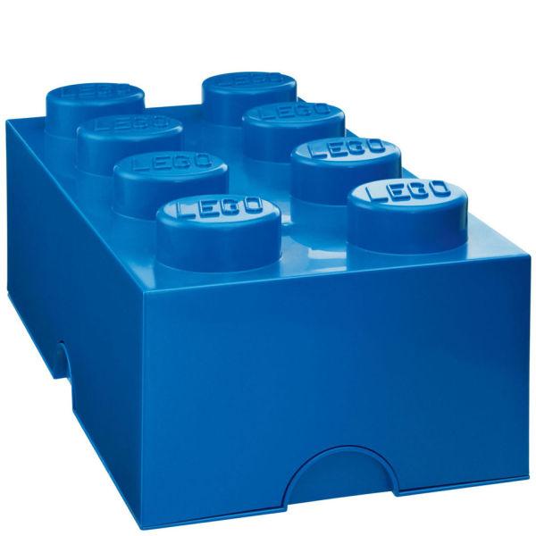 lego storage brick 8 blue iwoot. Black Bedroom Furniture Sets. Home Design Ideas