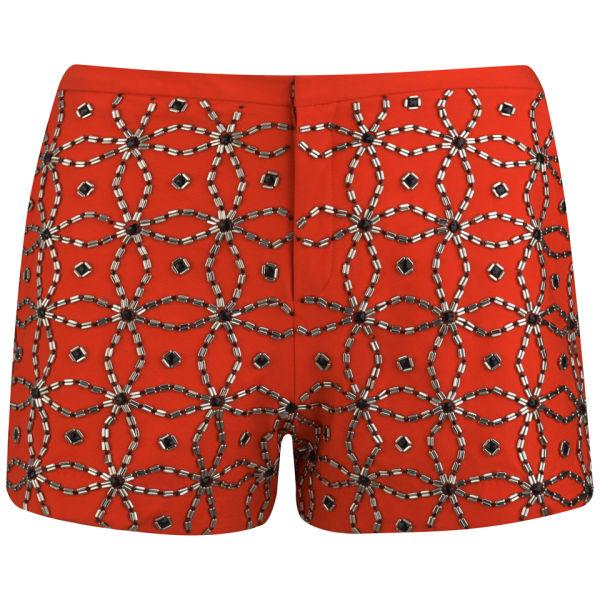 AnhHa Women's Embellished Mini Shorts - Orange