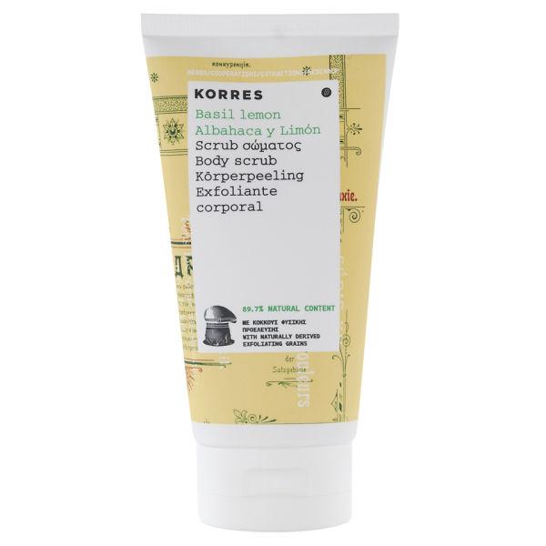 Korres Basil Lemon Body Scrub (150ml)