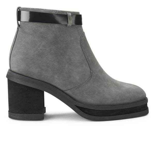 Purified Purified Women's Patricia 1 Chunky Heeled Leather Ankle Boots - Grey - 8