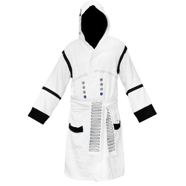 star wars inspired gift ideas: Star Wars Stormtrooper Adult Towel Bathrobe