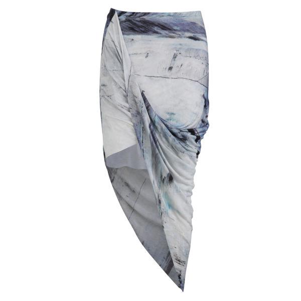 Helmut Lang Women's Asymmetric Wrap Skirt - Tidal Print
