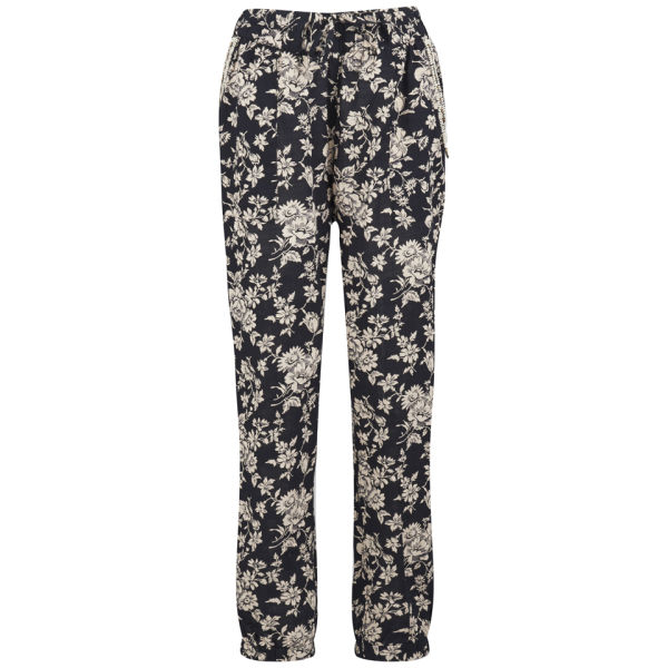 Maison Scotch Women's Printed Beaded Trousers - Black