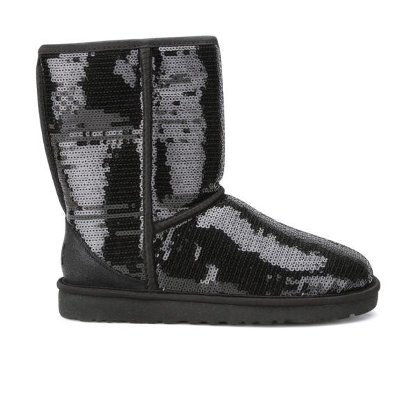 UGG Women's Classic Short Sparkles Boots - Black