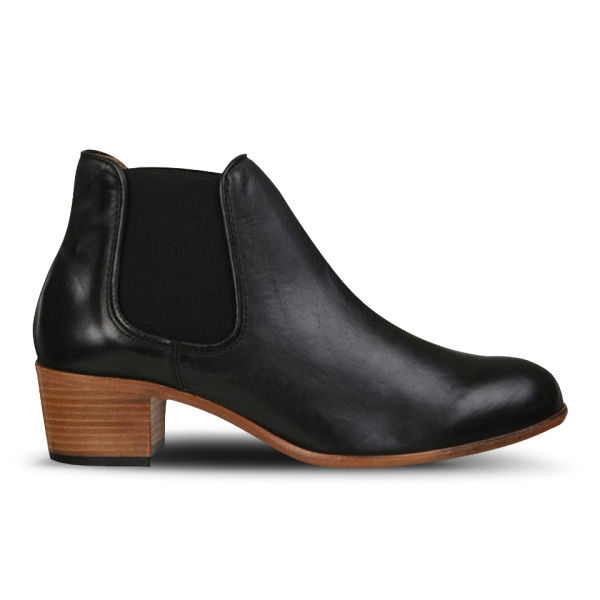 H Shoes by Hudson Women's Bronte Calf Leather Chelsea Boots - Black