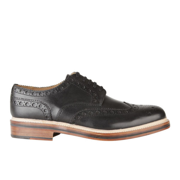 Grenson Men's Archie Brogues - Black